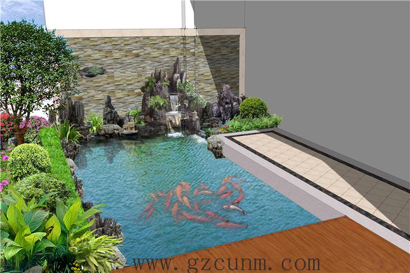 建造,别墅锦鲤鱼池设计建造公司,公司单位景观鱼池设计施工,水质清澈