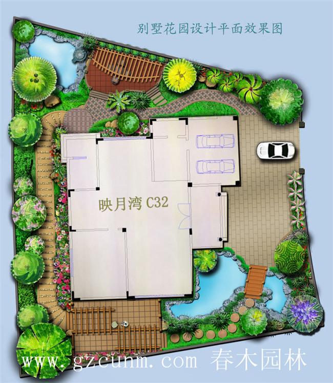 别墅花园设计平面图 - 广州春木园林公司