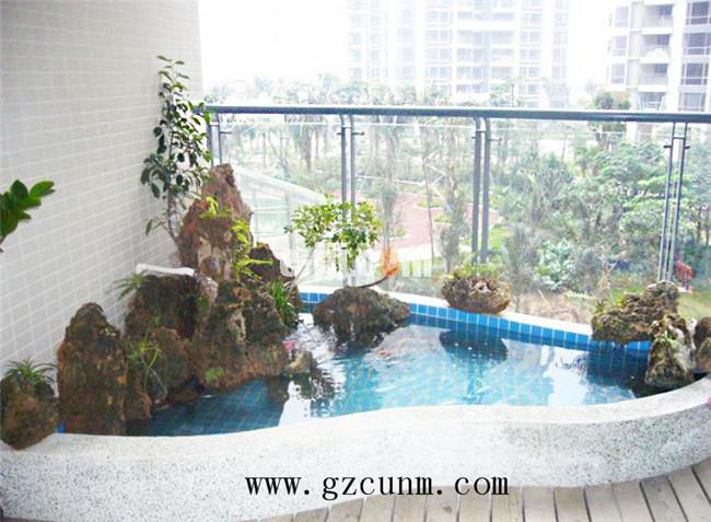 阳台鱼池设计实景