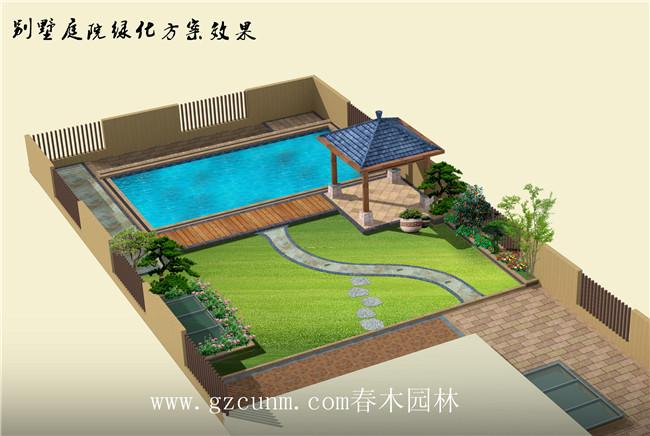别墅花园景观设计别墅,楼顶景观凉亭休闲有a别墅游泳池,庭院别墅,设计地砖的材质好方案图片