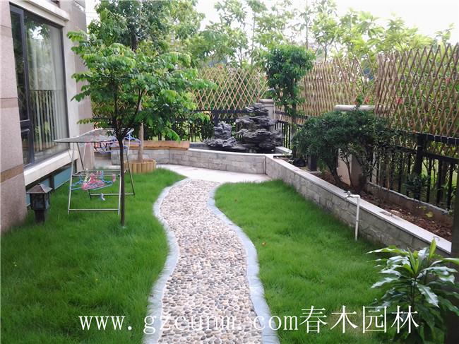 广州别墅花园设计_锦鲤鱼池_私家花园设计就找广州春木园林公司 www.
