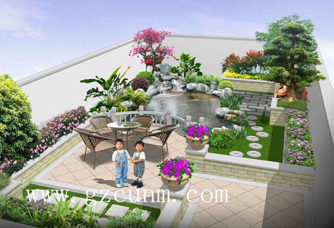 别墅后花园设计效果图图片