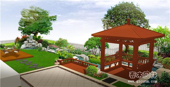 别墅花园景观设计图