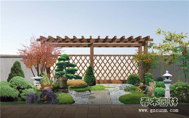 日式小庭院景观设计案例图片