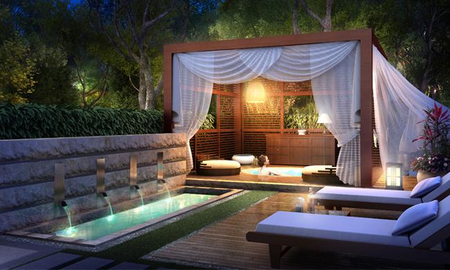 别墅庭院景观设计的简单和意境原则