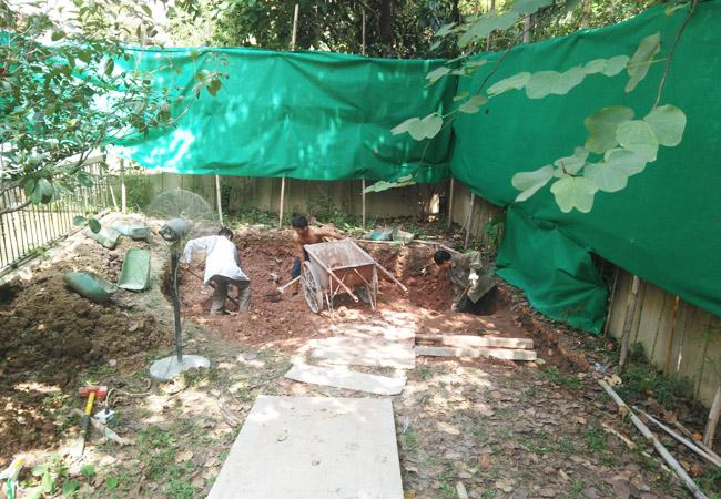 别墅地下挖鱼池建造图片