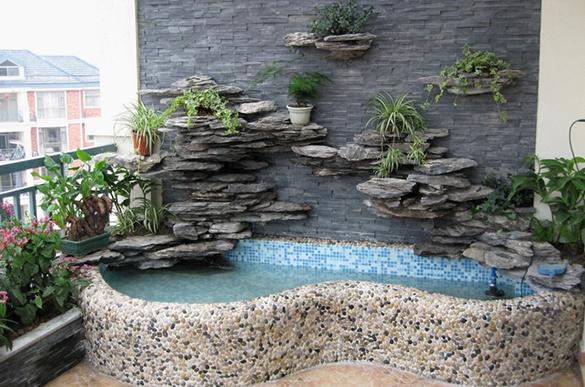 阳台小鱼池设计与施工案例 - 广州春木园林公司