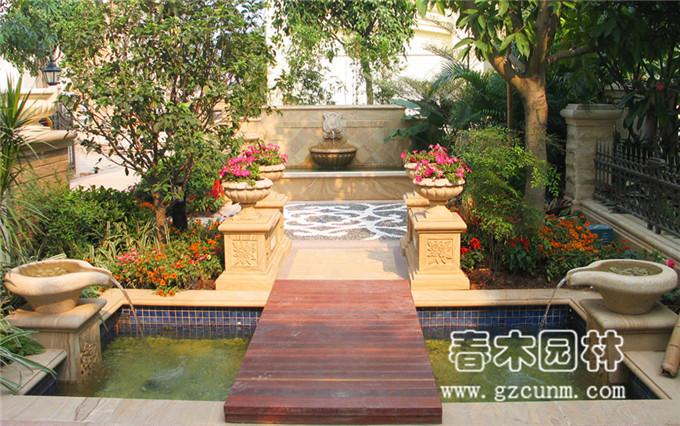 广州番禺区别墅花园设计实景图片