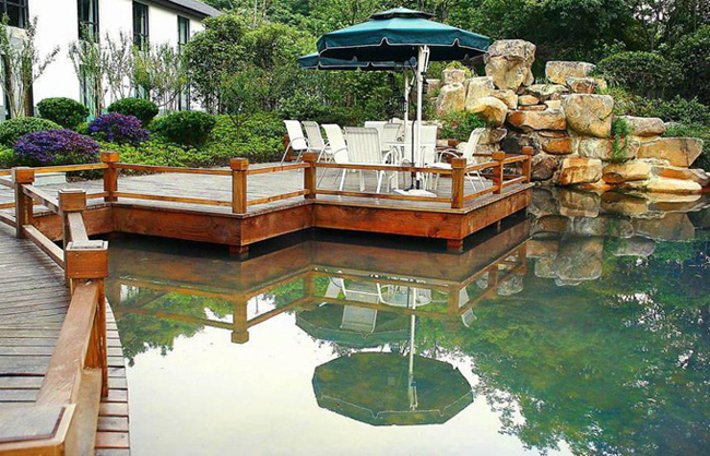庭院鱼塘设计效果图图片